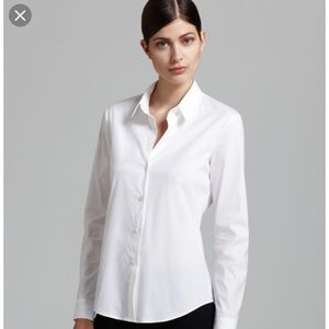 New with tags theory Larissa 2 white button up top